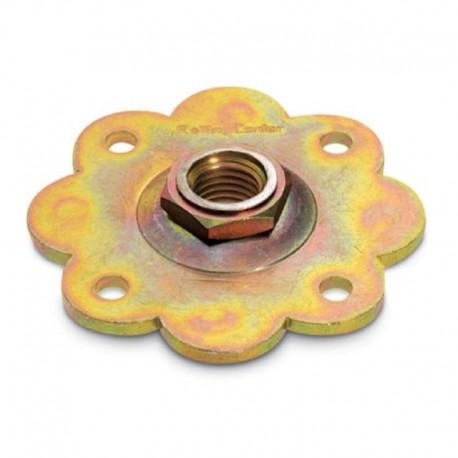 Plaque fleur - Diamètre 24 - Série fer forgé