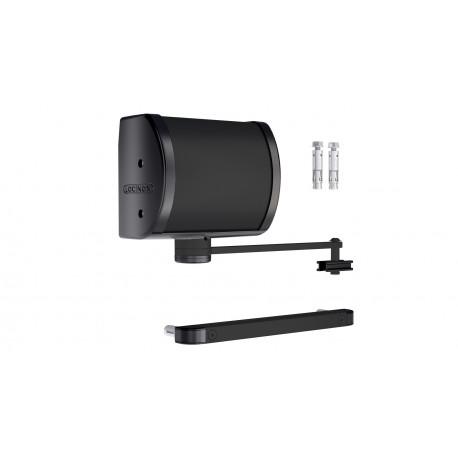 Ferme-porte hydraulique pour pilier béton - Couleur noir
