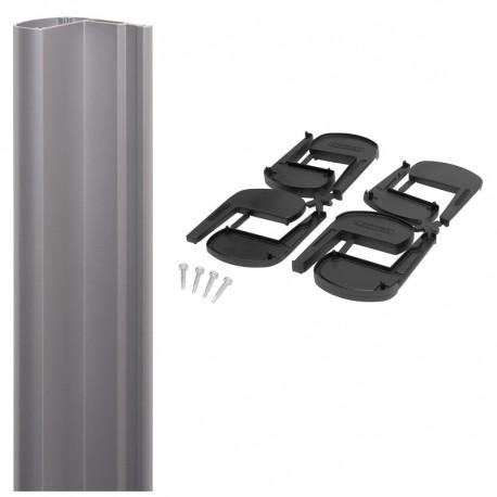 Profil aluminium pour ventouse en applique