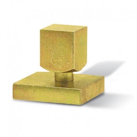 Pivot inférieur - Embase carré de 35 mm