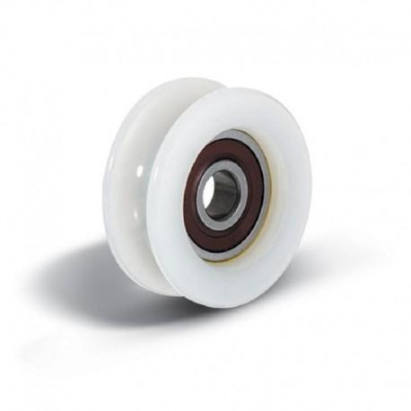 Roue en nylon diamètre 50 avec roulement à bille
