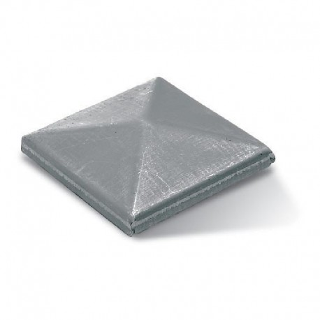 Chapeau carré en acier brut à souder - Dimension de 60
