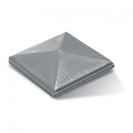 Chapeau carré en acier brut à souder - Dimension de 100