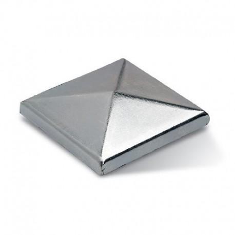 Chapeau carré en acier zingué à souder - Dimension de 100