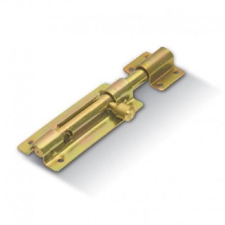 Verrou rond à visser avec porte cadenas - Longueur 200mm - Portail léger