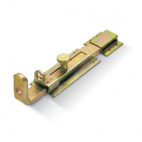 Verrou transversal à visser avec porte cadenas - Longueur 200mm