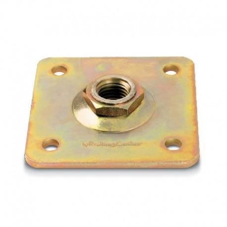 Plaque carré réglable pour gond diamètre 24
