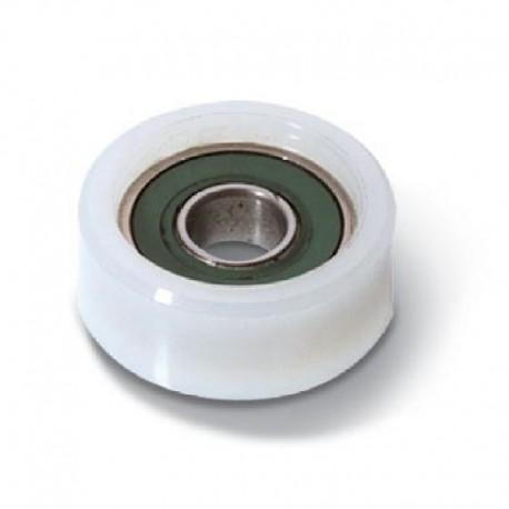Roue en nylon 1 roulement diamètre 33