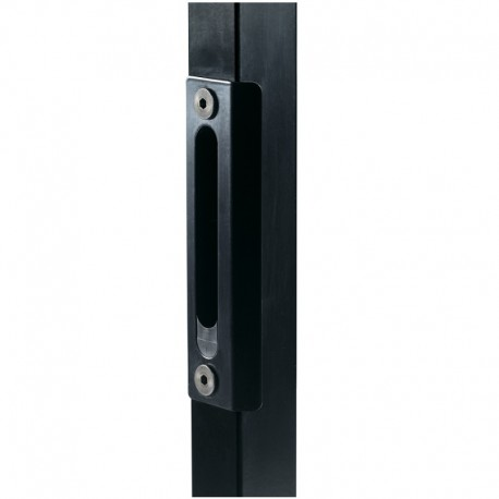 Gâche couleur noir pour serrure style fer forgé pour portail battant