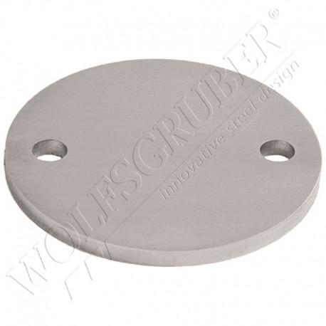 Embase ronde pour poteau en inox de diamètre 100