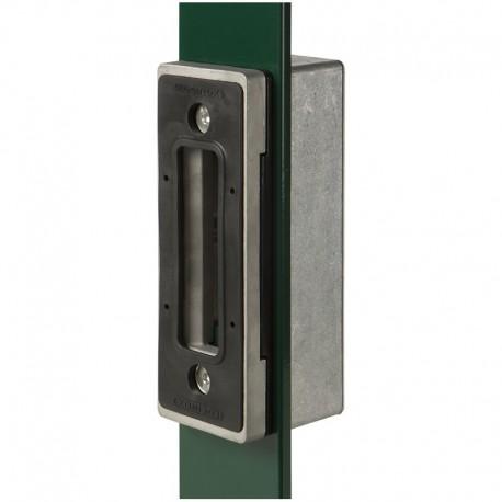 Boîtier en aluminium pour profil plat de portail coulissant