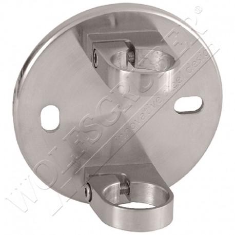 Support mural rond pour poteau - Diamètre 42,4 / Diamètre de la plaque 150mm