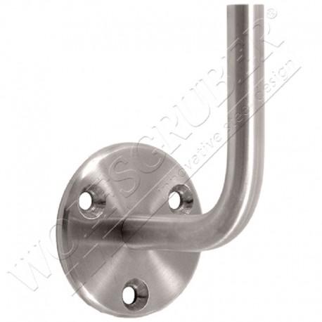 Support de main courante à souder - Tige diamètre 14 / Rondelle 68x5