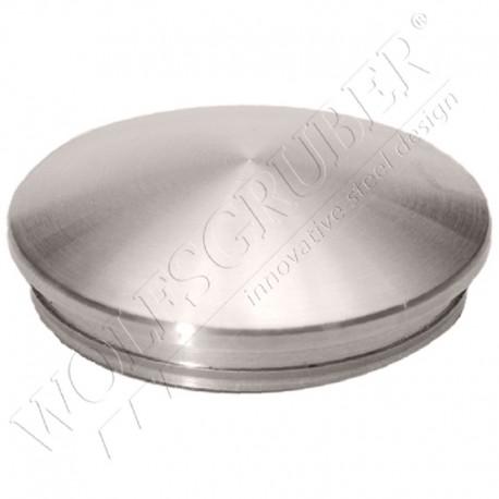 Embout bombé en inox - petit modèle (diamètre 33,7mm)