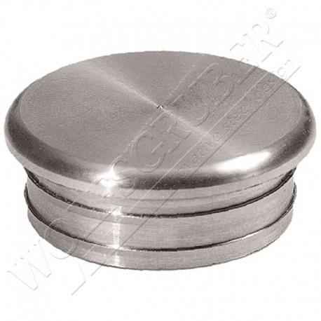Embout plat en inox - Diamètre 42,4