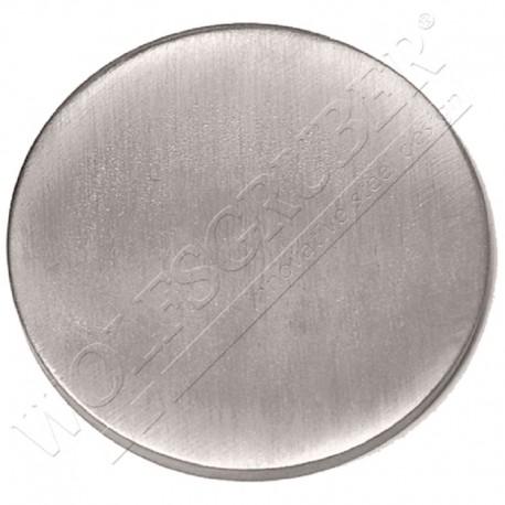 Embase plat à souder en inox - Diamètre 42