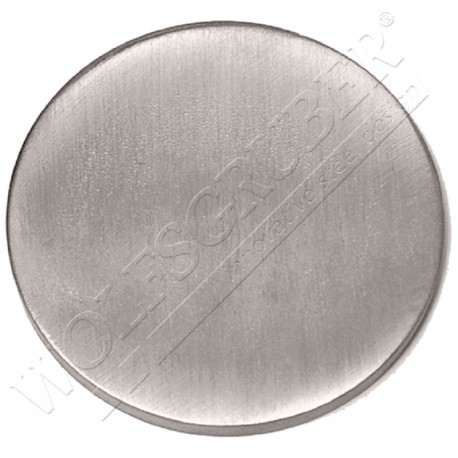 Embase plat à souder en inox - Diamètre 100
