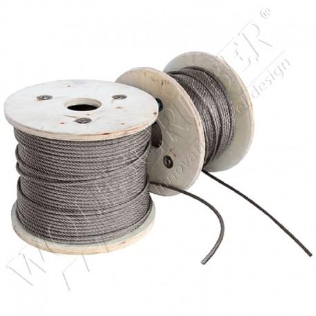 Câble en inox de longueur 50m et diamètre 5mm
