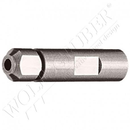 Terminaison manuelle filetée interne droite - Câble diamètre 6