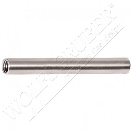 Terminaison à sertir filetée interne gauche - Diamètre 10 et câble diamètre 6