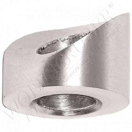 Cale d'angle pour arrêt tête conique pour tube plat - Angle 0°
